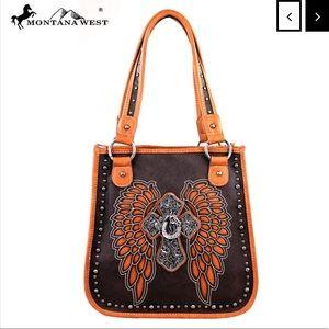 Montana West Spiritual Collection Handbag Brown
